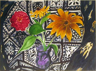 Maine Black-Eyed Susan and Zinnia